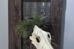 Wolf on Driftwood & Barn Board Sign- 063